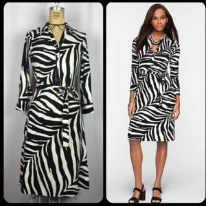 Talbots Woman zebra print dress.